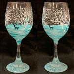 Snowy and Cozy Wine Glass Set!
