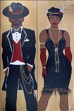 Roaring 20's Couple-Single or Set-requires 2 seats