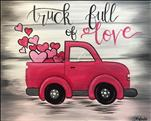 Truck Full of Love! on a Wood Board!