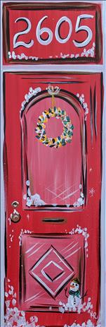 Holiday Red Door on 10 x 30