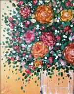 Vibrant Bouquet Fingerpainting- Adults Only
