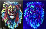 Colorful Lion - Blacklight