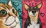 Paint Your Pet Date Night + Chocolate Rose