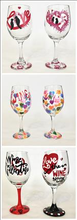 Pick Your Valentine's Day Glassware! Set of 2