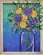 Twilight Bouquet  - Framed Canvas Option! YOU PICK