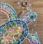 Spongy the Turtle on Wood Board, Canvas or Pallet