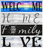 "Sign and 6"" Interchangeable mini Cutout"