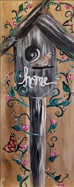 Spring Birdhouse *10x30 Canvas*