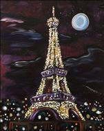 **BLACK CANVAS** Eiffel Tower Lights
