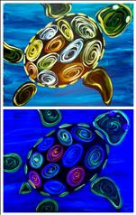 BLACKLIGHT! Neon Turtle | Family Class
