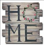 Rustic Wreath Home Pallet