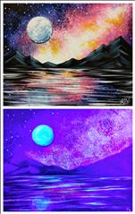Galaxy Reflection Blacklight Set