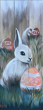 Rustic Easter Bunny Real Wood Board