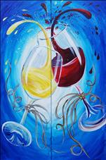 Wine Glass Splash - Couples Set