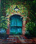 Green Tuscan Door