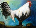 Coffee & Canvas: Rooster King