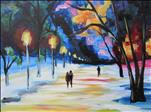 MANIC MONDAY! $45 Painting for $35! Wintry Night
