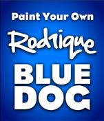 Paint Your Own Rodrigue Blue Dog- Ages 6 and Up!