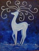 Coffee and Canvas: Curly Reindeer