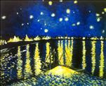 Starry Nite on the Rhone  16x20-$45  24x36-$55