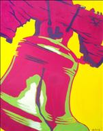 **Local Fave**  Pop Art Liberty Bell