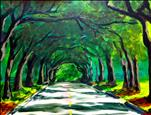 12th Ave-The Tree Tunnel-One Canvas Version