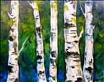 Coffee & Canvas! Summer Aspens ($35)