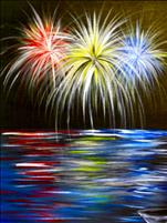**Light Up Canvas!** Fireworks at Lake