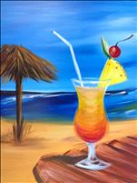 Hawaiian Night Painting Tiki Sangria Beach Party!