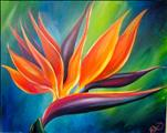 COFFEE & CANVAS: $10 OFF   Bird of Paradise