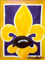 Your Team Spirit Fleur De Lis - Pick your colors