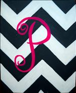 **Teen Friendly** Chevron Monogram: Customize it!