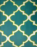 Moroccan Tile in Teal