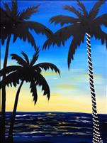 Lighted Palms at Sunset-Relax w/ US! 18+