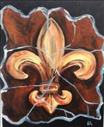Cracked Fleur de Lis- Singles Version