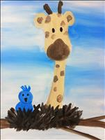 Giraffe and the Blue Jay