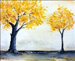 Golden Trees - Paint a Set or Single canvas