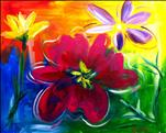 Bright Flowers, Kidz & Kanvas Ages 6 & up welcome