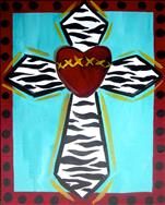 Kid Camp: Zebra Heart Cross