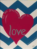 Chevron Heart Love