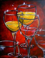 Red, White and Wine--Paint and Sip with WineStyles