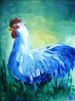 COFFEE AND CANVAS - Blue Rooster