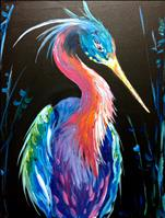 Neon Heron (Teens and Adults)