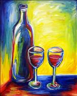 Girls Day Out! Fauve Wine Painting