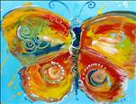 Kid Camp:  Vintage Butterfly Impasto