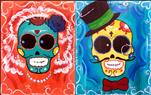 Bride and Groom Sugar Skulls - set (3-hour)