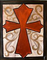 Coffee and Canvas: Metallic Cross