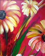 **DAISY SERIES** Daisies on Red 2