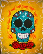 Happy Hour $2 Drinks! Day of the Dead Skull