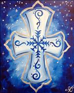 Coffee and Canvas: Snowy Cross